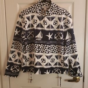 St. John Sport Nautical Jacket Size Large